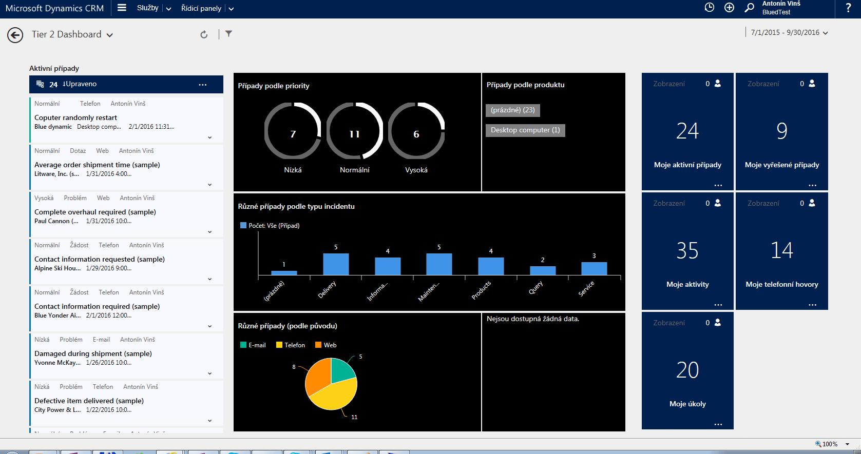 Servisni hub Dynamics CRM