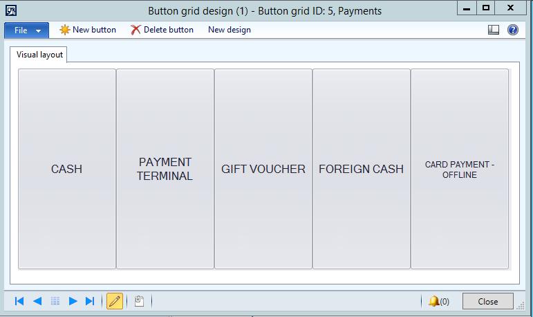 Retail POS Global Button grid Blue Dynamic Blue Dynamic